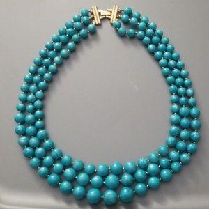 Vintage 1980s Trifari TM Triple Strand Necklace